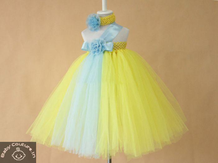 cf91cda5117 Yellow Mist   Sky Princess Tutu Dress-babycouture.in