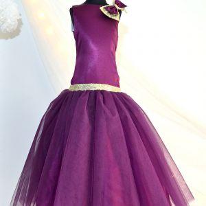 cf8f88d441e4 Tutu Kidswear Dark Purple Sequin Baby Girl Bright Gown