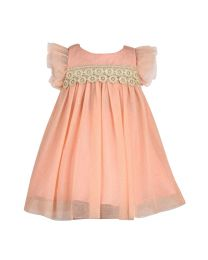 Bambiola Shinny Lacey Baby Girl Dress-babycouture.in