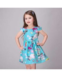 Aqua Mint FarmHouse Dress-babycouture.in