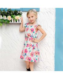 Aqua Mint Flowers Summer Love Dress-babycouture.in