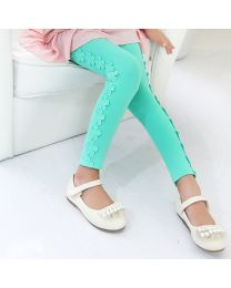 Arka Designs Sea Green Floral Leggings-babycouture.in