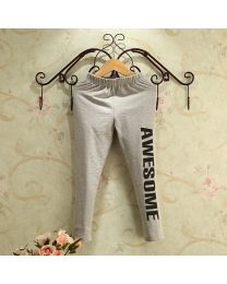 Awesome Print Grey Leggings-babycouture.in