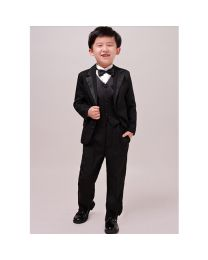 Baby Boy Black Tuxedo Set-babycouture.in