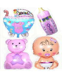 Baby Girl Birth Announcement/ Baby Shower Balloons-babycouture.in