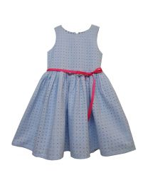 Bambiola Broderie Anglais Summer Formal Baby Girl Dress-babycouture.in