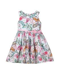 Bambiola Butterfly And Paisley Print Baby Girl Dress-babycouture.in