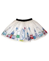 Bambiola Fun London City Print Baby Girl Skirt-babycouture.in