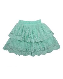 Bambiola Green Gorgeous Scalloped Lace Baby Girl Skirt-babycouture.in