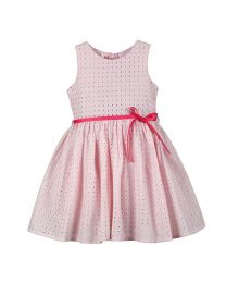 Bambiola Pink Summer Formal Baby Girl Dress-babycouture.in