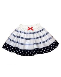 Bambiola Tiered Polka Striped Baby Girl Skirt-babycouture.in
