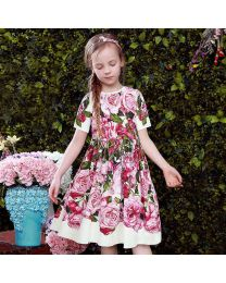 Bella Roses Love Bloom Summer Dress-babycouture.in