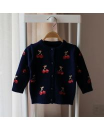 Blue Cherries Kids Cardigan- babycouture.in