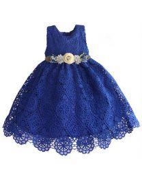 Blue Stylish Bella Summer Kids Dress-babycouture.in