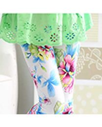Blue Summer Floral Capri-babycouture.in