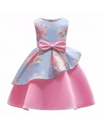 Blue Pink Cutie Ice Cream Kids Dress-babycouture.in