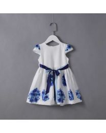 Blue Sweetheart Kids Summer Dress-babycouture.in