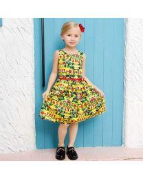Bright Summer Floral Kids Dress-babycouture.in