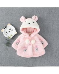 Bunny Cute Faux Fur Baby Coat-babycouture.in