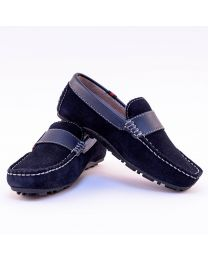 Careeno Cira Blue Baby Boy Loafers-babycouture.in