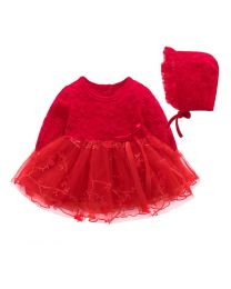 Cindy Red Valentine Baby Dress-babycouture.in