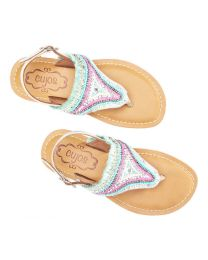 Cujos Ibiza Multi Color Fashion Sandal-babycouture.in