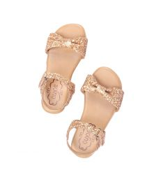 Cujos Italica Beautiful Sequin Kids Sandal-babycouture.in