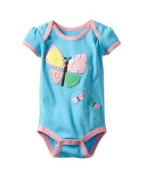Cute Blue Butterfly Romper-babycouture.in