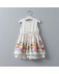 Cute Cup Cake Summer Lovely Lace Frock-babycouture.in