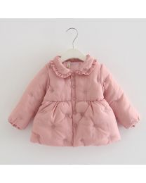 Cute Puffy Peach Jacket- Babycouture.in