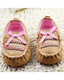 Cute Baby Brown Lovely Loafers-babycouture.in
