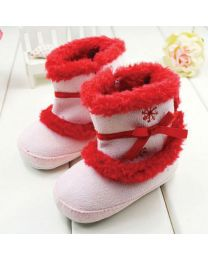 Cute Pink & Red Winter Boots-babycouture.in