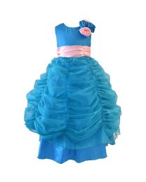 Darlee & Dache Blue Floor-length Girl Pageant Gown-babycouture.in
