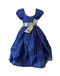 Darlee & Dache Dark Blue Balloon Kids Party Gown-babycouture.in