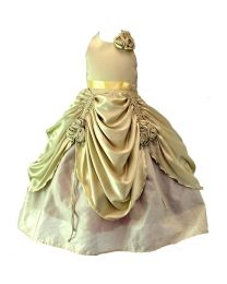Darlee & Dache Gold Renaissance Kids Party Gown-babycouture.in