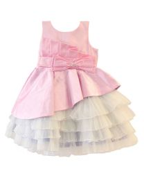 Darlee & Dache Pink Appealing Multi Layered Kids Party Dress