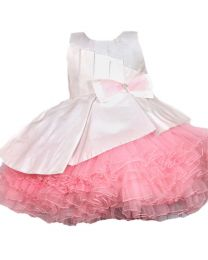 Darlee & Dache Pink Multi Layered Frilly Kids Party Dress-babycouture.in