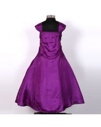 Darlee & Dache Purple Flared Kids Party Gown-babycouture.in