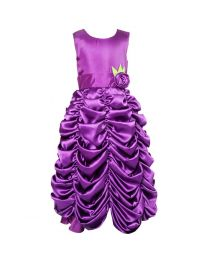Darlee & Dache Purple Ruffled Kids Princess Gown-babycouture.in