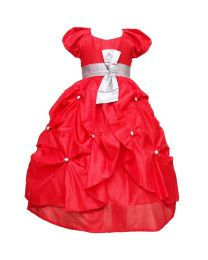 Darlee & Dache Red Balloon Kids Party Gown-babycouture.in