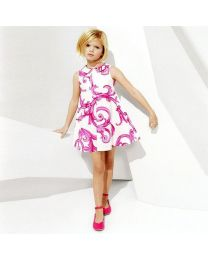 Designer Love Pink Smart Party Frock-babycouture.in