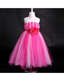Diva Pink Rose Panache Kids Tutu Dress-babycouture.in