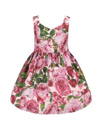 European Roses Glamour Kids Dress-babycouture.in