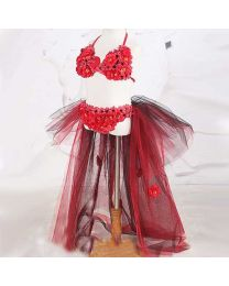 Flowery Flowery Love Tutu Beach Wear-babycouture.in