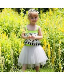 Funky Pineapple Crop Top & Tutu Skirt Set-babycouture.in