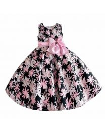 Gloria Pink Lovely Floral Kids Frock-babycouture.in