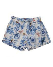Bambiola Pretty Floral Baby Girl Shorts-babycouture.in