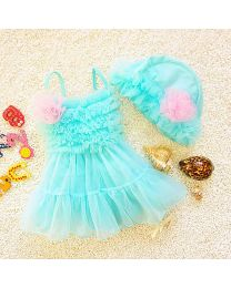 Minty Tutu Cute Swimwear-babycouture.in
