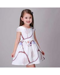 Landscape Love White Summer Kids Dress-babycouture.in
