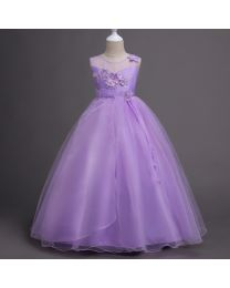 Lavender Diva Sophia Kids Gown-babycouture.in